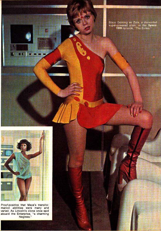 Stacy Dorning as Zova a demented super-powered alien in the Space  sc 1 st  Space 1999 Catacombs & Space Wars Article - Color Supplement 4