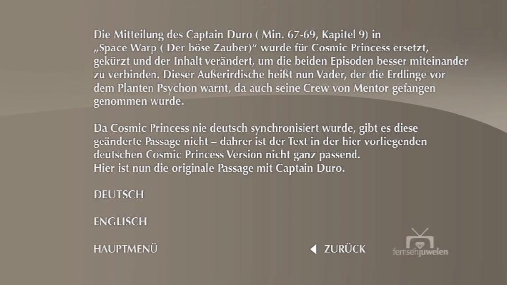Space 1999 Merchandise Guide: German Movie DVDs